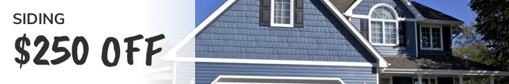 Siding Offer $250 Off Image