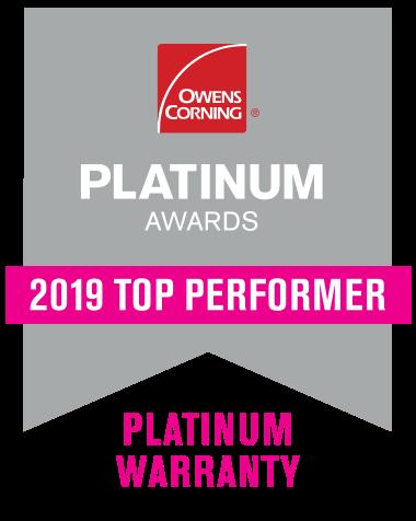 Owens Corning 2019 Top Performer Badge