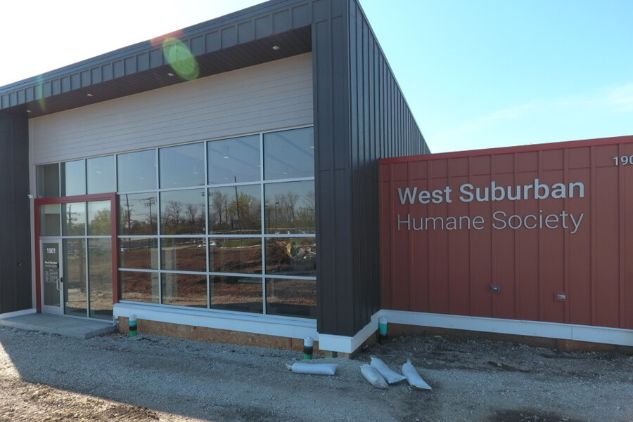 West Suburban Humane Society - TPO Flat Roof, and James Hardie Siding